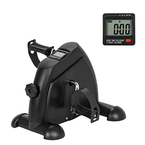 Vertical Climber Stepper Exercise Machine/Indoor Cycling Exercise Bike/Upright Exercise Bike with Resistance/Aerobic Stepper (US Stock) (LS-Mini Exercise Bike-Black) by Ferty