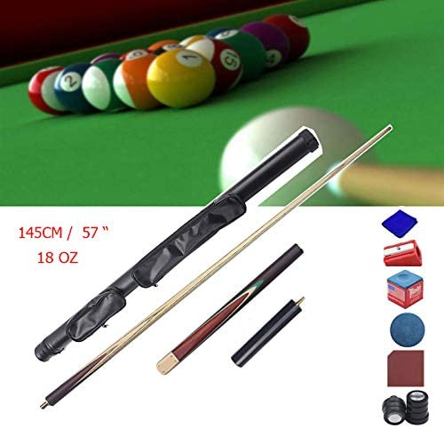 XZYY Tacos De Billar Profesional Palos De Billar Snooker 3/4 Split Pool Cue Pole 2 Piezas, Hecho A Mano, 145cm/57 18 Oz,Interfaz De Cobre, Transmisión Estable,con Pool Cue Extension: Amazon.es: Hogar