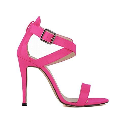 New-Loft 42 Shoes Elegant 11cm Sexy High Heel Sandal Lady All Match Ol Summer Party Sandals NPZ-B0034,9,38 ()