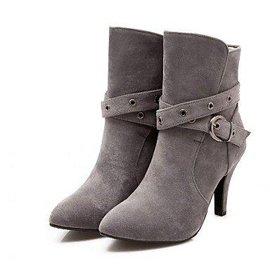 RTRY Zapatos De Mujer Polipiel Primavera Moda Invierno Botas Botas Stiletto Talón Señaló Toe Botines/Botines Hebilla Para Oficina Informal &Amp; US9.5-10 / EU41 / UK7.5-8 / CN42