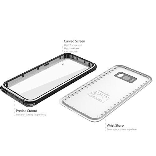 Impermeable Funda Samsung galaxy S8 Plus, Moonmini Ultra delgado Water Resistente Cuerpo Completo Proteccion Militar Robusto Estuche Protector Con el Diseño del Botón y la Función Touch ID Case Para S Blanco