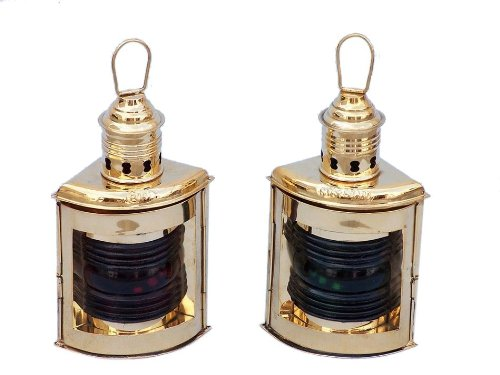 Solid Brass Port and Starboard Oil Lantern 10