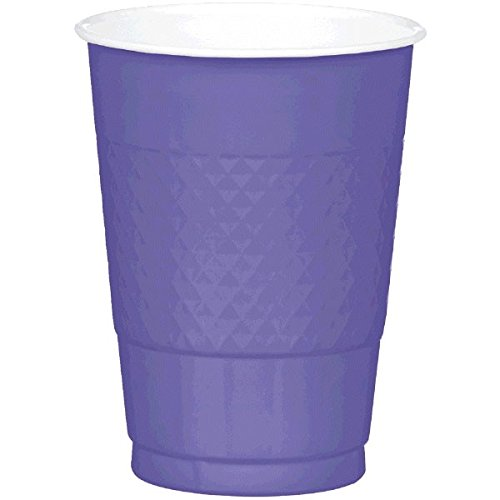 Piece Of Toast Halloween Costume (Amscan Party Ready Reusable Plastic Cups (20 Piece), Purple, 3.7 x 3.7