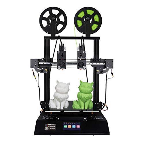 TENLOG TL-D3 Pro Independent Dual Extruder 3D Printer, 300 Degree High Temperature Nozzle,Silent Mainboards TMC2209…