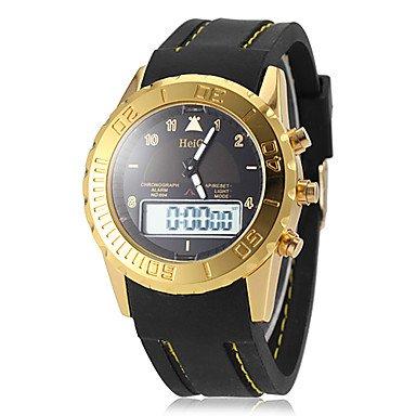 MOFY reloj de oro de silicona caso de la mu-eca deportes banda anal-gico- digital multifuncional de los hombres (colores surtidos) , Blanco: Amazon.es: ...