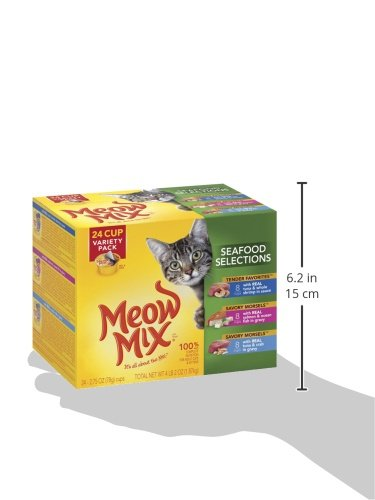 Meow Mix Seafood Selections Variety Pack Wet Cat Food, 2.75-Ounce (pack of 24) by Meow Mix (Image #6)