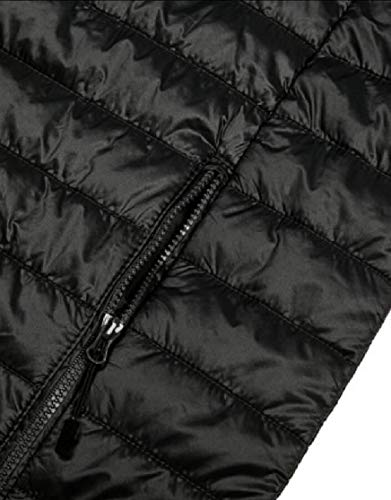 Hooded Outerwear Black Winter Jacket TTYLLMAO Down Men's Lightweight Puffer Packable Coat zqTETP