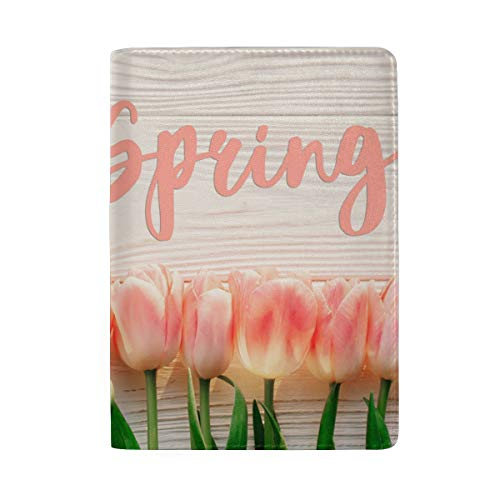 Hello Spring Pink Carnation Portable Leather Passport Holder Cover Case for Travel Luggage One - Pink Travel Wallets Carnation