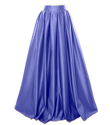 Party Skirt Blau Prom Formal Dress Evening Long MACloth Satin Women wzxg8PI