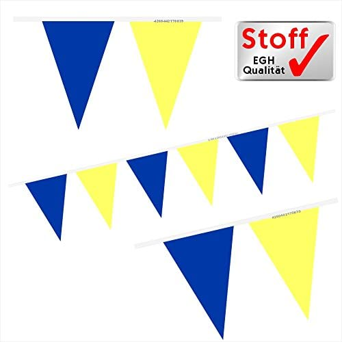 gelb Wimpelkette Girlande blau