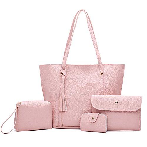 Compuesto Bolso Repujado Nuevo Moda De Bolso Marrón Meaeo Bolso Americana Pink Y Amarillento Europea Bolsa 1q0xCw