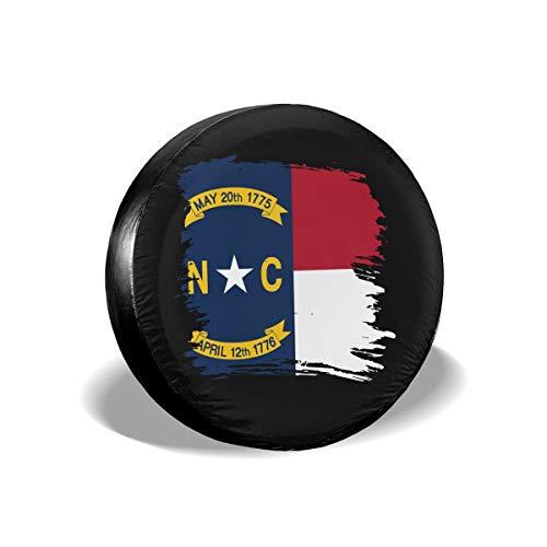 LionRiver North Carolina Flag Spare Tire Wheel Cover for Car SUV Camper Truck Vitara (14'',15'',16'',17'' Tyre Diameter)