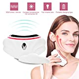 EMS Vibrating LED Face Neck Massager Electric Heating Scraping Instrument for Facial Lifting Firming Wrinkle and Double Chin Removal Skin Heating Detoxification Instrument