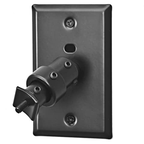 Pinpoint Mounts AM20-Black Universal Home Theater Speaker Wall Ceiling Mount with Electrical Box Installation Adapter (Audio Speaker Mounts)