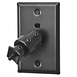 pinpoint mounts am20 black universal home theater speaker wall ceiling mount with. Black Bedroom Furniture Sets. Home Design Ideas