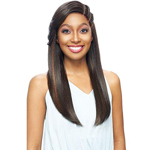 Vanessa Human Hair Blend Braided Double Part Lace Front Wig - TJ3 KAYO - Accent 619
