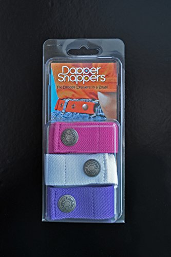 Dapper Snapper Made in USA Baby & Toddler Adjustable Belt 3 Pack ~ Pink, White & Purple
