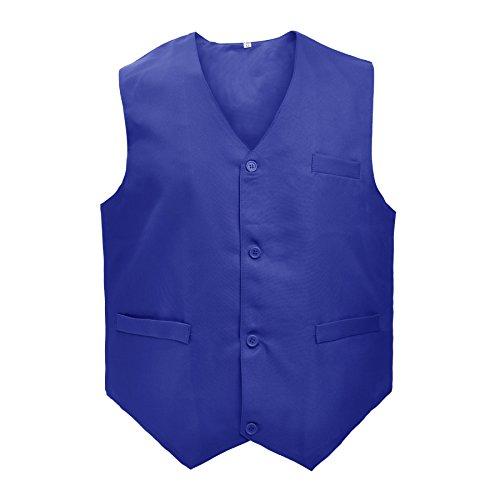 TOPTIE Waiter Uniform Unisex Button Vest for