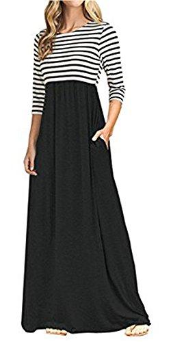 long black and white maxi dress - 1