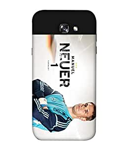 ColorKing Football Neuer Germany 01 Multicolor shell case cover for Samsung A3 2017