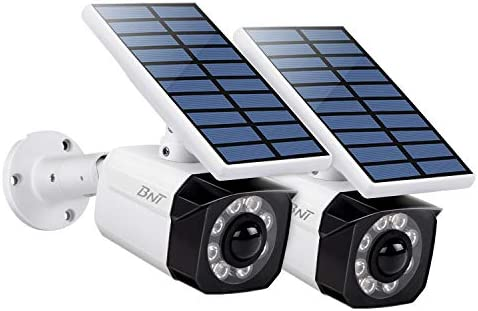 BNT Solar Lights Outdoor 8 LED Wireless Waterproof Security Solar Motion Sensor Lights 800LM,2 Packs