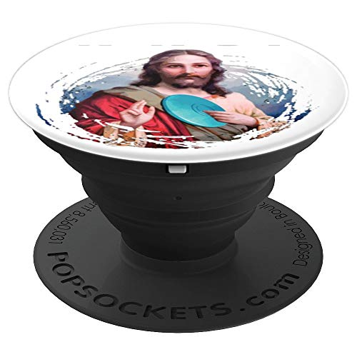 (Funny Disc Golf T Shirt Men Women What Would Jesus Throw - PopSockets Grip and Stand for Phones and Tablets)