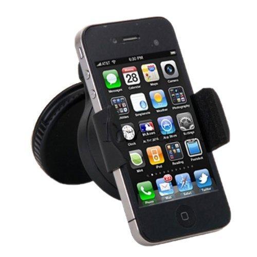 SANOXY 360 degree Universal Mobile Phone Windshield Compact Car Holder (BLACK)
