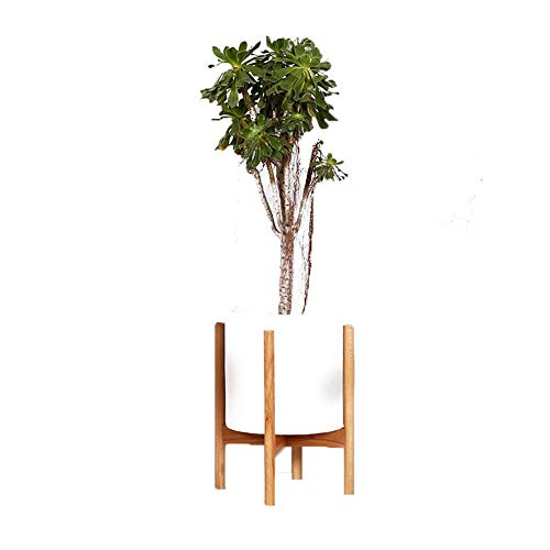 Ceramics Fig (Simple Mid Century Floor Plant Stand - Solid Wood Indoor Flower Pot Holder - up to 10 inch Planter - Modern Home Decor(Planter Not Included) (Wood Color))