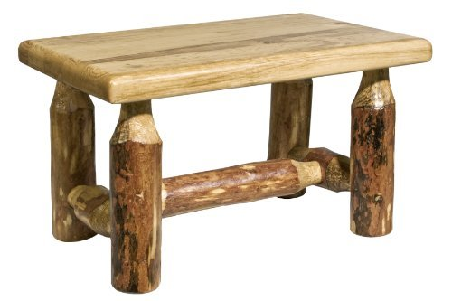 Montana Woodworks MWGCFS Glacier Country Collection Footstool