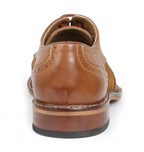 Giorgio Brutini Zapatos De Vestir De Punta De Ala De Cuero Marrón Tostado Para Hombre De Giorgio Brutini