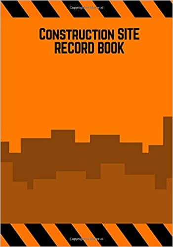 construction site record book orange cover daily activity log book