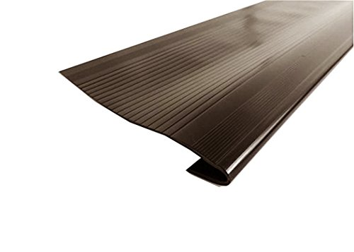 Clear Vinyl Stair Treads - Resilia - Indoor Vinyl Stair Treads for Square Steps, Brown, 24 Inches Wide x 9 Inches Long (Case of 18)