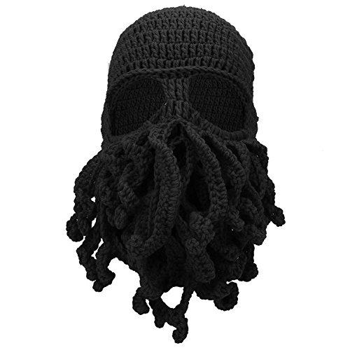 Opcionales de Punto Barba de Frío Negro Evitar Invierno Sombrero el para de Suave Viento Sombrero Cuatro Cálido Creativo Colores Filfeel Lana de Pulpo Pxw1vEqq