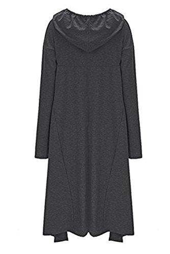 Yallmarket - Sudadera con capucha - para mujer gris oscuro