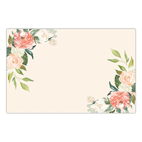 DB Party Studio Paper Placemats 25 Pack Disposable Place Mats Graduation Woman's Birthday Parties Wedding Reception Lovely Flower Blooms Easy Cleanup Brunch Dinner Tableware Guest Seating 17