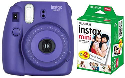 Fujifilm Instax Mini 8 Instant Film Camera  Grape  with Film  20 Shots