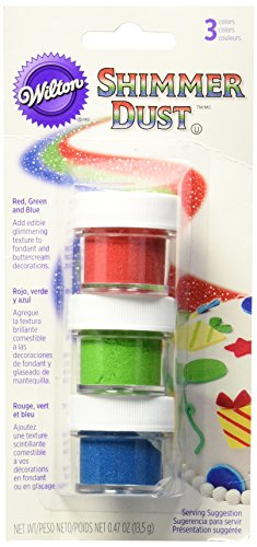 Wilton 703-210 Primary Shimmer Dust Food (Wilton Cake Decorating Color)
