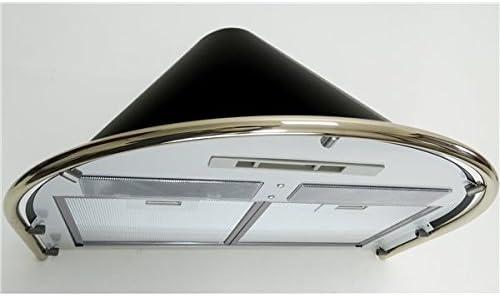 HBH – Campana extractora de cocina Negra pared 60 cm 600 M3/H chimenea extensible: Amazon.es: Hogar