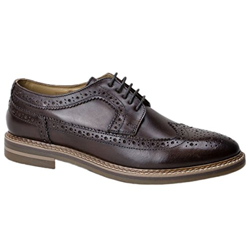 Marrone Stringate Turner Brouge London Uomo Base Scarpe AUYRqxwnS