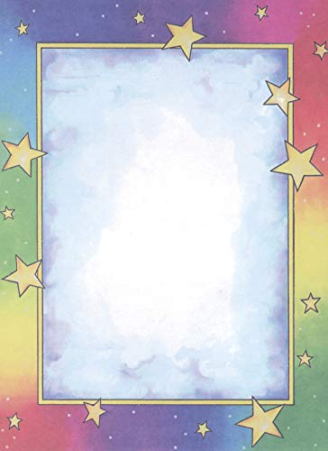 Royal Consumer Rainbow Stars Design Paper, 8-1/2 x 11 Inches, 100 Sheets