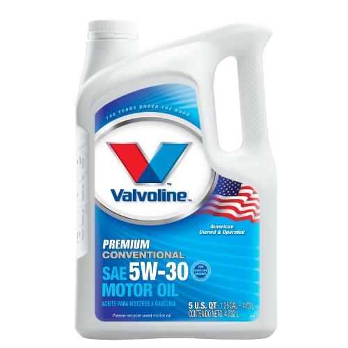 Valvoline 5W-30 Premium Conventional Motor Oil - 5qt (Case of 3) (779461-3PK) by Valvoline