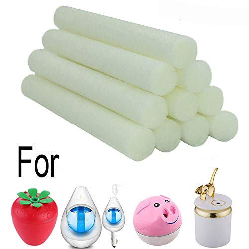 Price comparison product image BINHAI Humidifier Replacement Wicks Essential Oil Diffuser Filter Sponges Refill Sticks 10-Pack for Car Strawberry Cat Pig Humidifiers Aroma Diffuser