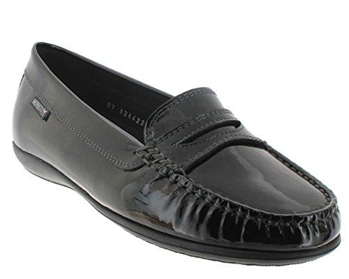 Noir Mocassin Verni Chaussures Femme Axena Mephisto Iw64zqSq