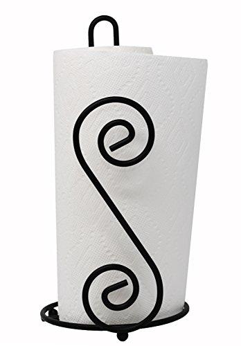 Scroll Paper Towel Holder (BLACK) ()