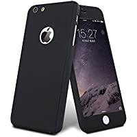 NVB | Apple iPhone 6 / 6s | 360 Degree | iPaky Style | Full Body Protection Front & Back Case Cover with Free Tempered Glass (Black)