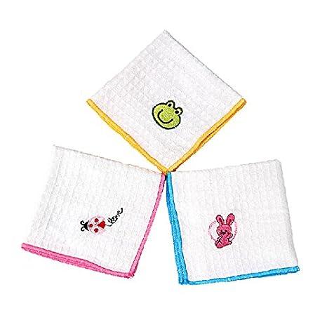 Amazon.com: [Free Shipping] 5pcs Embroidered Handkerchief Cotton Gauze Baby Napkin Face Towel // 5pcs gasa bebé toalla de cara compresa de algodón pañuelo ...
