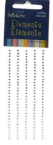 (Mark Richards Enterprises Crystal Stickers Elements (Clear) - 2 mm)