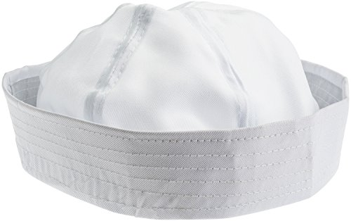 [NJ Novelty - White Sailor Hat Adult Costume Accessory, Set of 12 Dress Up Party Hats] (Ship Captain Costumes)