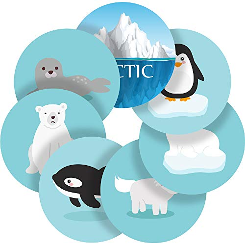 Arctic and Antarctic Animals Reward Sticker Labels, 70 Stickers @ 1