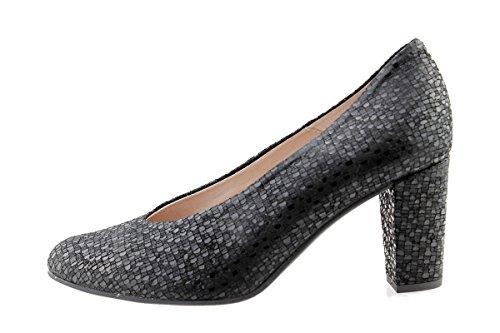 cuir 175202 confortables confort Plata Escarpins Chaussure amples en Metal Metal femme PieSanto Silver CROqwt